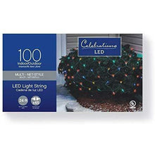 Load image into Gallery viewer, Celebrations Indoor/Outdoor LED Net Lights, 4' L x 6' W, 100 Multi-Color Lights