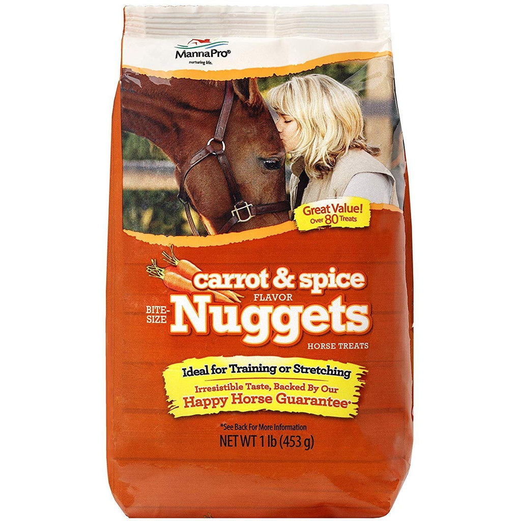 Manna Pro Bite-Size Carrot & Spice Flavored Nuggets, 1 lb (2 Pack)