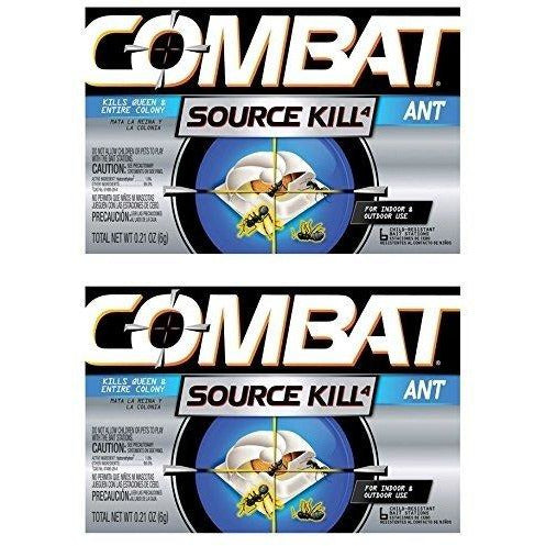 Combat Source Kill 4: Six Ant Bait Stations. Kills Queen & Entire Colony. Henkel 45901 - Set of 2