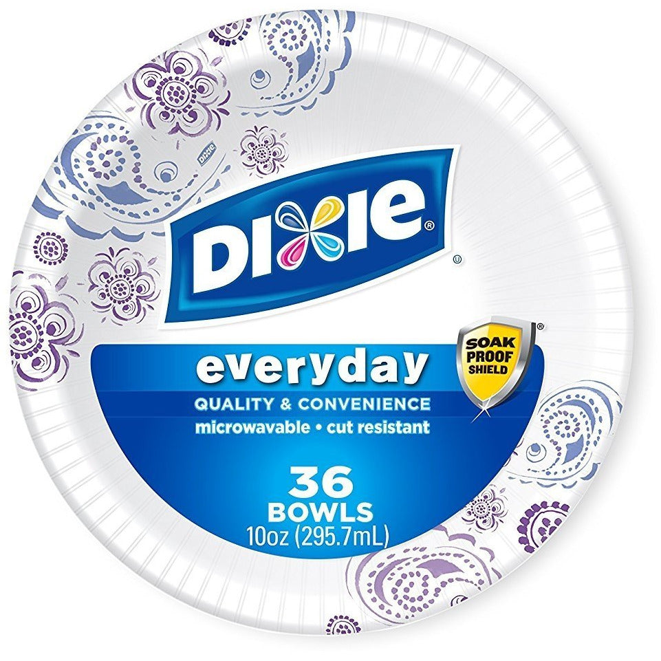 Dixie Heavy Duty Bowls 10 Ounce 36 Ct Pack of 4 (Color May Vary)