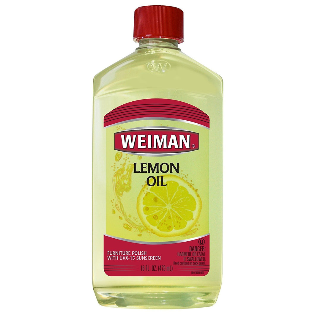 Weiman Lemon Oil Wood Polish - 16 Fluid Ounce - UV Protection, Gently Cleans, Protects, Moisturizes, Restores and Conditions Wood