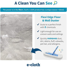 Load image into Gallery viewer, E-Cloth Flexi Edge Floor & Wall Duster Microfiber Cleaning Cloths