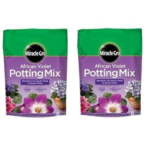 Miracle-Gro African Violet Potting Mix, 8-Quart (currently ships to select Northeastern & Midwestern states) … (2 Pack)