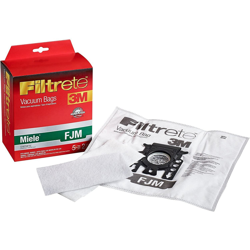 Filtrete Miele FJM Synthetic Vacuum Bag, 6.2