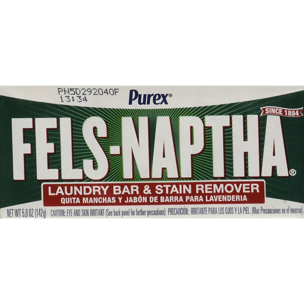 Fels Naptha Laundry Bar and Stain Remover, 5.0 Ounce (4 Bars)