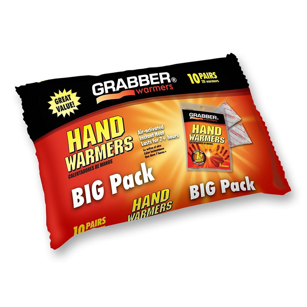 Grabber Hand Warmers - Long Lasting Safe Natural Odorless Air Activated...