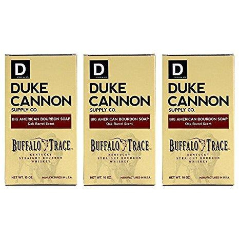 Duke Cannon Big American Brick of Soap for Men, Bourbon, 10 ounce, 3 Pack