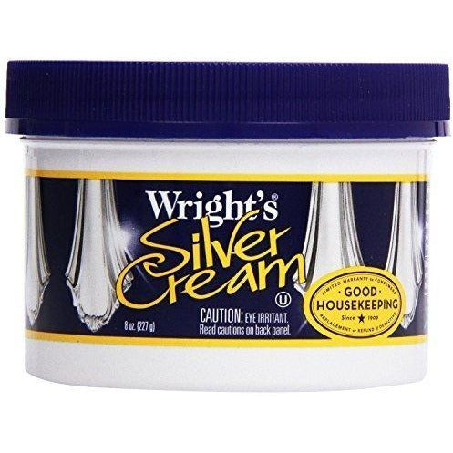 Wright's Silver Cream Polish, 8 Oz  (Pack of 2)