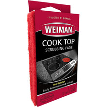 Load image into Gallery viewer, Weiman Cook Top Scrubbing Pads – Gently Clean and Remove Burned-on Food from All Smooth Top and Glass Cooktop Ranges, 3 reusable pads