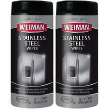 "Load image into Gallery viewer, WEIMAN WMN 92CT Stainless Steel Wipe, 3"" Diameter, 7"" Width, 8"" Length, 30 per Canister"