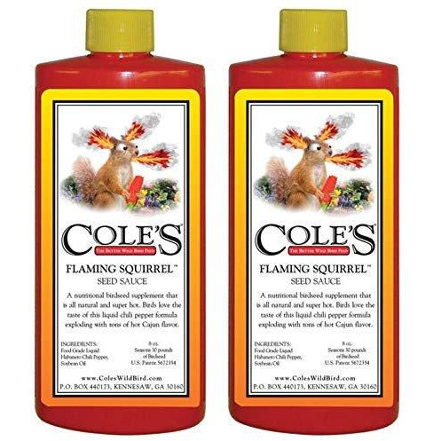 Cole's Wild Bird Products FS08 Flaming Squirrel Seed Sauce, 8-Ounce (2 Pack)