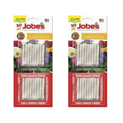 Jobe's 05231T Flowering Plant Fertilizer Spikes 10-10-4, 3 Pack Multicolor