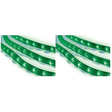 Load image into Gallery viewer, CELEBRATIONS Rope Lights 216 Green Lights 18' PVC