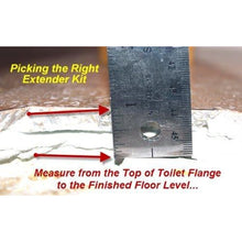 "Load image into Gallery viewer, Set-Rite Toilet Flange Extender Kit Adjustable from 1/4 "" - 1 5/8"" - 2 Pack"