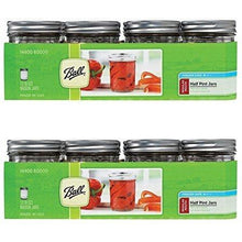 Load image into Gallery viewer, Ball Canning Regular Mouth Half Pint Canning Jar 8 oz. 12-Count - Set of 2 (Total 24 Jars)