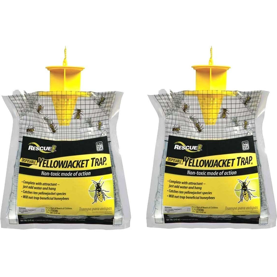 RESCUE! Non-Toxic Disposable Yellowjacket Trap - Eastern of The Rockies (2 Pack)
