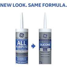 Load image into Gallery viewer, GE GE012A All Purpose Silicone 1 Sealant Caulk, 10.1oz, Clear