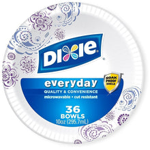 Load image into Gallery viewer, Dixie Heavy Duty Bowls 10 Ounce 36 Ct Pack of 4 (Color May Vary)