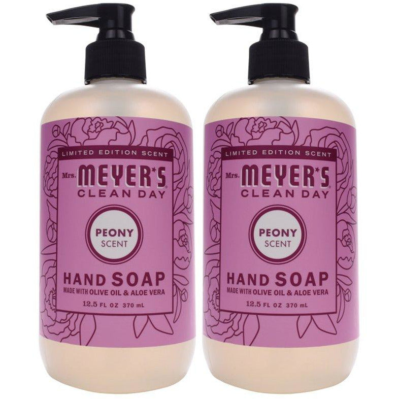 Limited Edition Scent Mrs. Meyer's Clean Day - PEONY Scent Hand Soap 12.5oz - 2-PACK