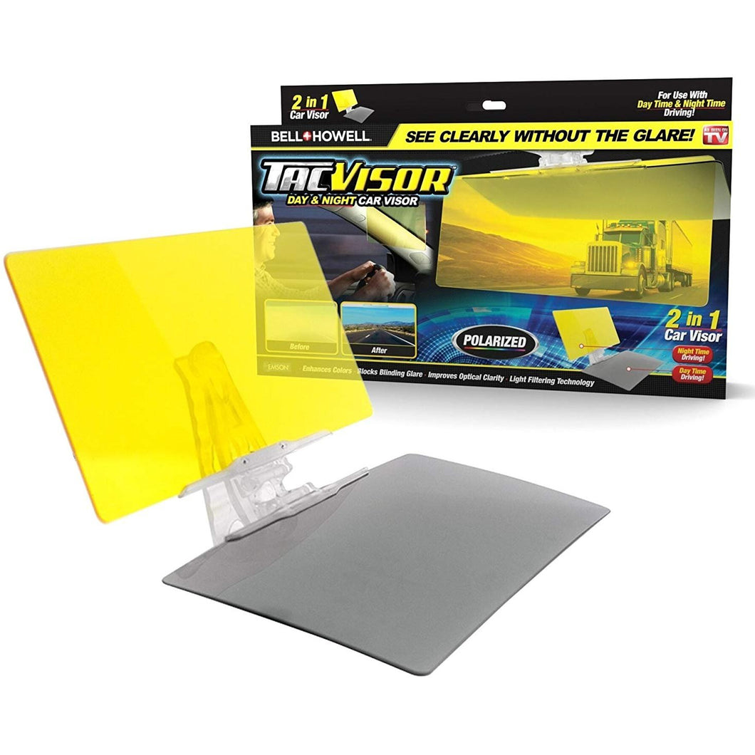 Bell + Howell TACVISOR for Day and Night, Anti-Glare Car Visor, UV-Filtering/Protection As Seen On TV