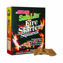 Load image into Gallery viewer, Rutland Safe Lite Fire Starter Squares, 144-Square - 2 Pack