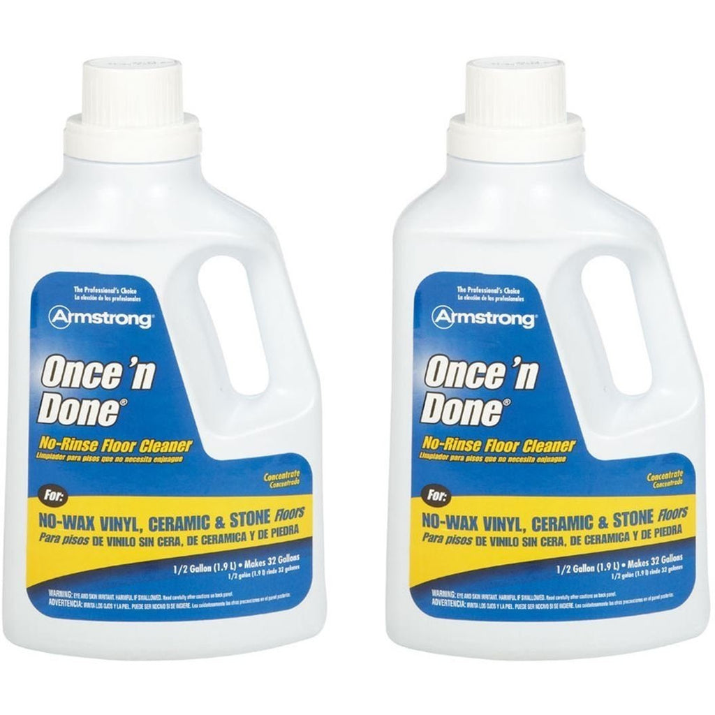 Armstrong 330806 Armstrong Once 'N Done Cleaner Concentrate, 1/2 Gallon (64OZ) - 2 Pack,Multicolor