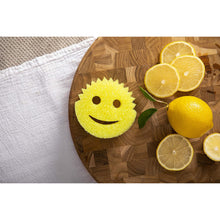Load image into Gallery viewer, Scrub Daddy®, Lemon Fresh Scrubber - FlexTexture Sponge, Soft in Warm Water, Firm in Cold, Deep Cleaning, Dishwasher Safe, Multi-use, Scratch Free, Odor Resistant, Functional, Ergonomic