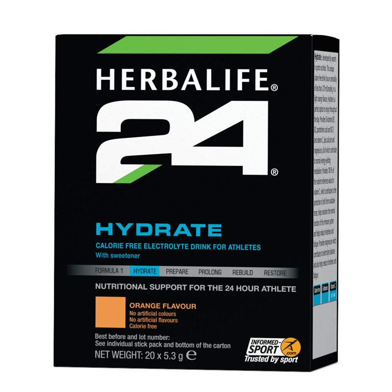 Hydrate Orange 20 Stick Packs