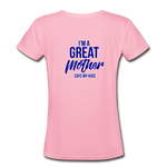 Women's Fatherless V-Neck T-Shirt I'm a Great Mother Says My Kids - The Fatherless Store