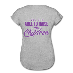 Women's Daddy-Less Daughter V-Neck T-Shirt I Raised My Children - The Fatherless Store