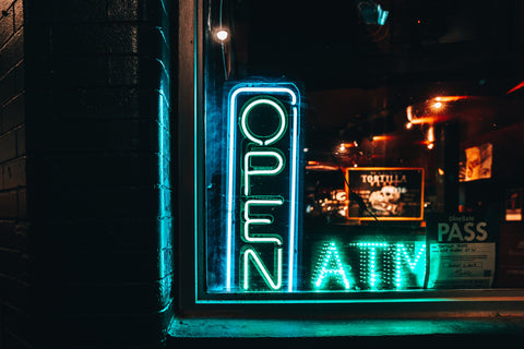 neon open sign Nicole De Khors