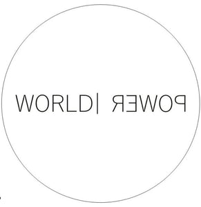 World Power Circle Sticker - World Power Designs