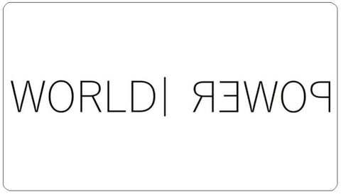 World Power Rectangle Sticker - World Power Designs