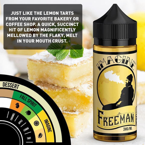 Image of sweet and tart lemon cake e-juice with nicotine