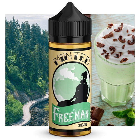 Minted - Freeman vape juice cool mint flavor in 80 20 vg blend