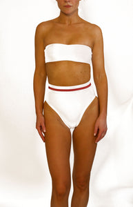 Frenchie Bottom White Ribbed