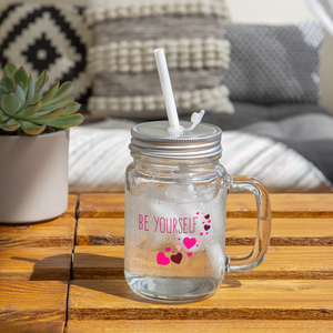 Open image in slideshow, Be Yourself Mason Jar - clear