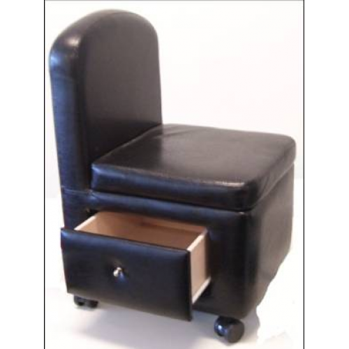 GD Pedicure Stool (White or Black) - IBD Boutique