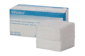 ALLIANCE - GAUZE SPONGES 12 PLY NON-STERILE