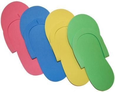 IBD FOAM PEDICURE SLIPPERS WHITE (12-Pair-pc)