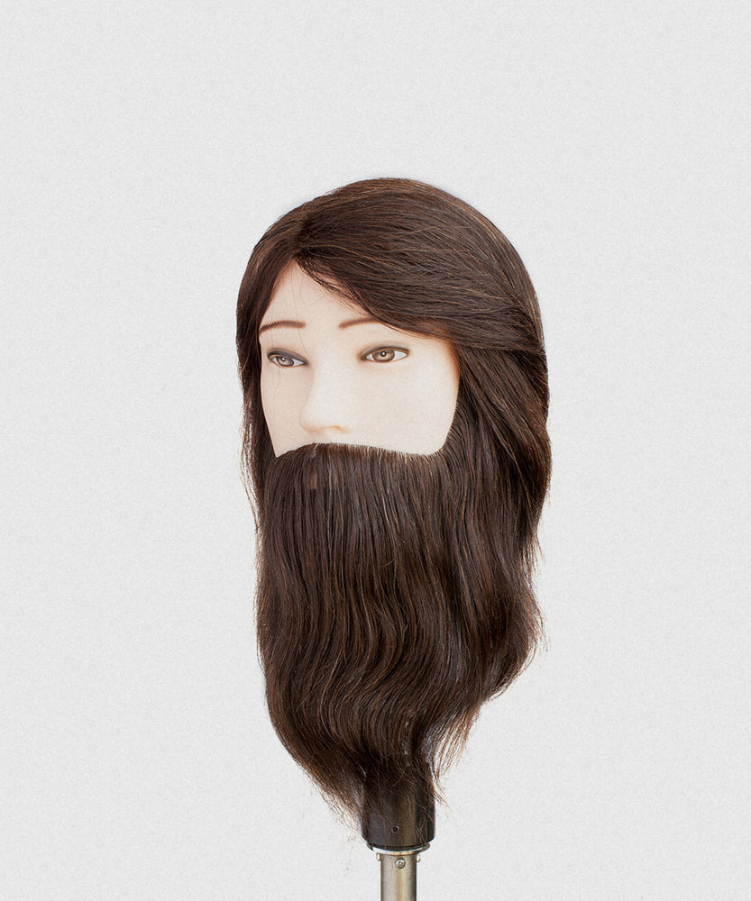 NP STANDARD BEARDED MALE MANNEQUIN 8-9""