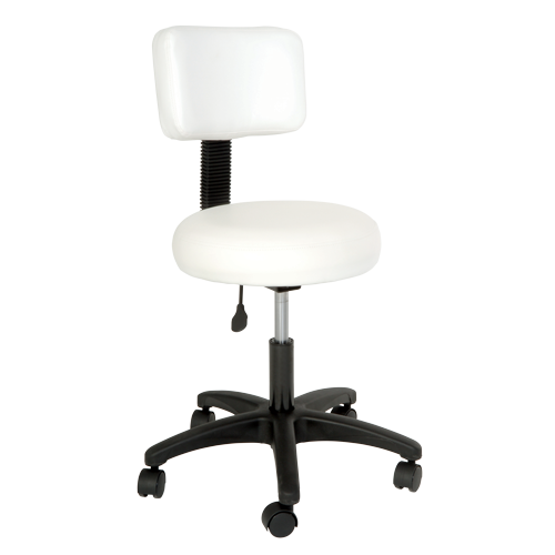 Silhouet-Tone  ROUNDED STOOL WITH BACKREST