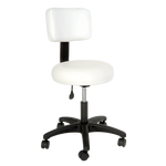Silhouet-Tone  ROUNDED STOOL WITH BACKREST - IBD Boutique