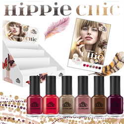 LCN-Hippie Chic Collection Nail Polish Display