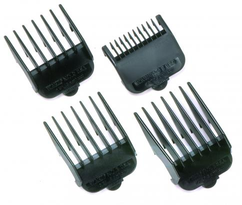 Wahl Set of 4 Black Clipper Guides - IBD Boutique