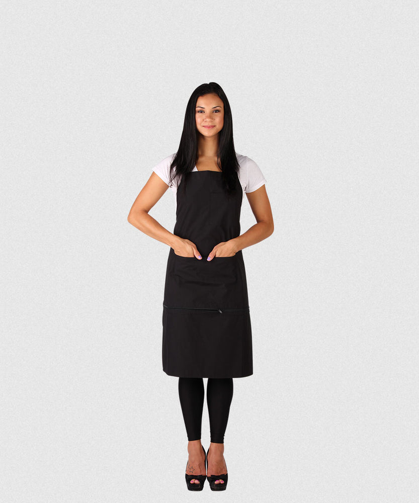 NP TEFLON CUTTING APRON WITH ZIPPER POCKET