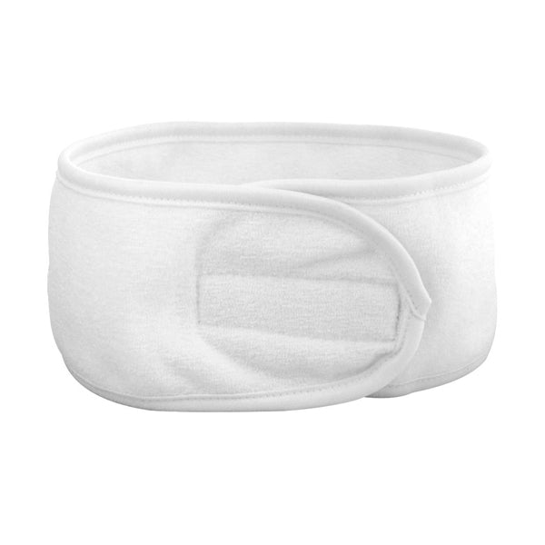 Silk B Terry Head Band White