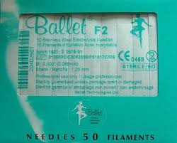 BALLET-STAINLESS NEEDLES F-50pc