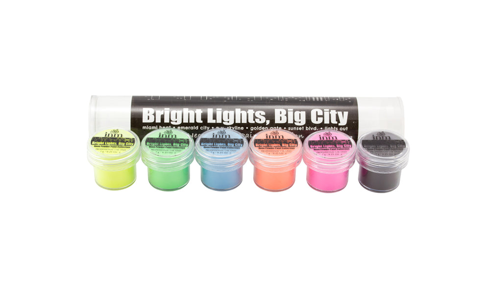 INM Acrylics Acrylic Powder Bright Lights, Big City Collection Kit 7g - IBD Boutique