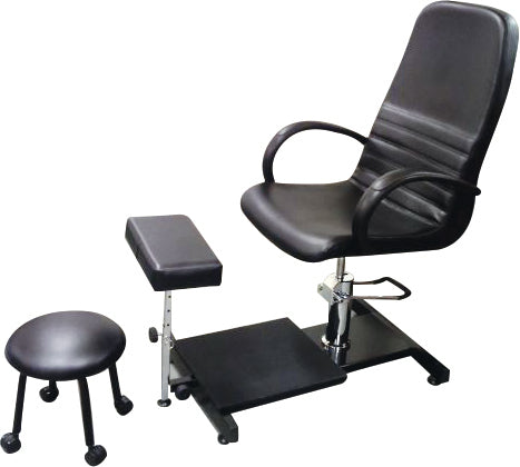 GD Pedicure Chair with Stool (White or Black) - IBD Boutique